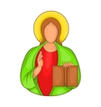 Jesus icon in cartoon style vector image vector image