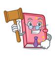 judge diary mascot cartoon style vector image vector image