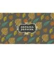 Leaves autumn pattern In retro style It contains vector image vector image