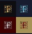 letter f decorative logo vector image vector image