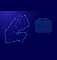 map djibouti from the contours network blue vector image vector image