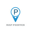 map point logo vector image
