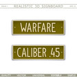 military signboard vector image vector image