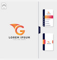 minimal g initial logo template free business vector image vector image