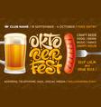 oktoberfest beer festival advertising flyer vector image vector image