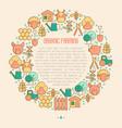 organic farming concept in circle vector image vector image