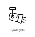 Outline spotlights icon isolated black simple