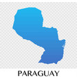Paraguay map in south america continent design