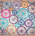 pattern of bycicles wheels vector image vector image