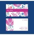 pink flowers horizontal stripe frame vector image vector image
