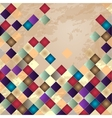 Retro background Colorful mosaic banner vector image vector image