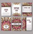 retro card with mandala vintage background with vector image vector image