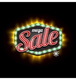 Retro Sale Light Banner with light frame vector image