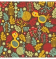 Seamless texture with cute birds of fall vector image vector image