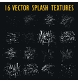 Set of 16 grungy artistic textures vector image vector image