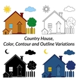 Set of Country Houses vector image