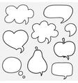 Set of hand drawn speech bubbles vector image vector image