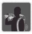 silhouette avatar boy traveler vector image vector image