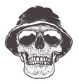 skull in hat and sunglasses vector image vector image