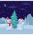 Snowballs and christmas tree vector | Price: 1 Credit (USD $1)