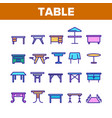 table desk color elements icons set vector image vector image