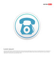 telephone icon - white circle button vector image