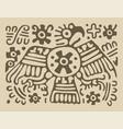 toltecas eagle vector image vector image