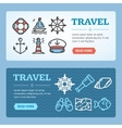 Travel Banner Set vector image vector image