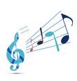 treble clef notes vector image vector image