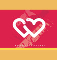 valentines day cute card design vector image