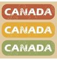 Vintage Canada stamp set vector image vector image