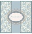 Vintage floral ornament invitation or card vector image