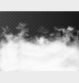 white clouds on dark transparent background vector image