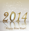 New 2014 year greeting card vector image