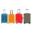 Suitcase Travel Bag Flat Icon Set Collection vector image
