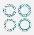 set of logo abstract circles symbols on white vector image