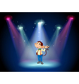 A monkey standing at the stage vector image vector image