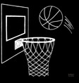 action of basketball going vector image