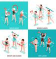 aqua aerobics isometric concept vector image vector image