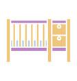 baby cribs color icon design sign vector image vector image