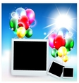 balloons decoration for you design with film frame vector image vector image