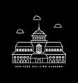 bandung city landmark museum building outline vector image vector image