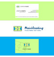 beautiful football ground logo and business card vector image