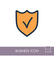 best protection shield outline icon vector image vector image
