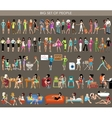 Big set of people vector image vector image