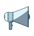 blue shading silhouette of megaphone icon with vector image vector image
