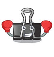 boxing binder clip in the character shape vector image vector image