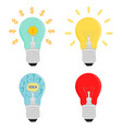 business light bulb idea concepts icon vector image vector image