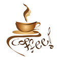 coffee sign - logo cup of coffee vector image