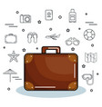 colorful suitcase design vector image